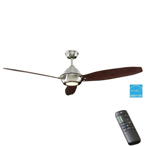 brushed nickel outdoor ceiling fan with light home decorators collection aero breeze 60 in integrated