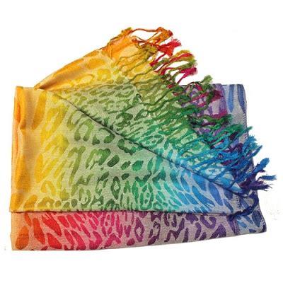Pashmina Rainbow rainbow pashima scarf rainbowdepot rainbow depot