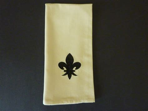 fleur de lis dish towels embroidered in kentucky