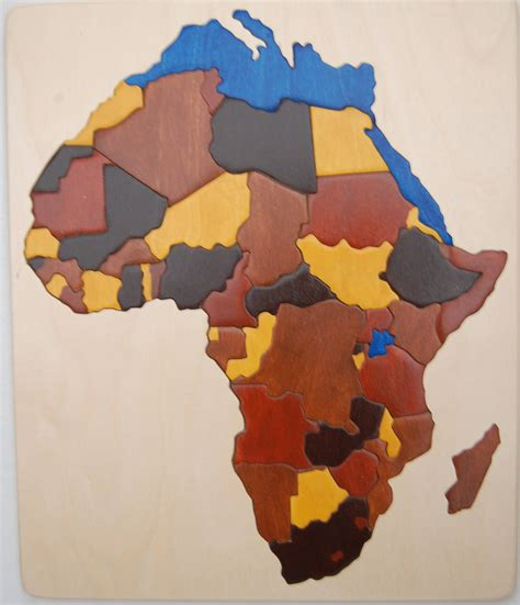 africa map puzzle chunky wooden map puzzle of africa an educational and