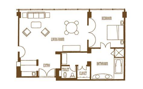 Disney Contemporary Garden Wing Hospitality Suite Floor Plan - mirage 2 bedroom tower suite floor plan www indiepedia org