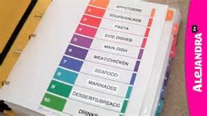 Orgnize recipe organizer how to organize recipes in a binder