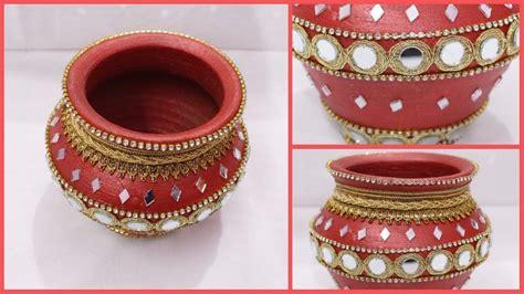 decorate pot  home  matki decoration  indian
