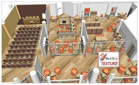 sketchup layout library sketchup texture how to design a public lbrary part 3