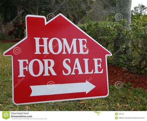 home for sale sign stock image image of property white