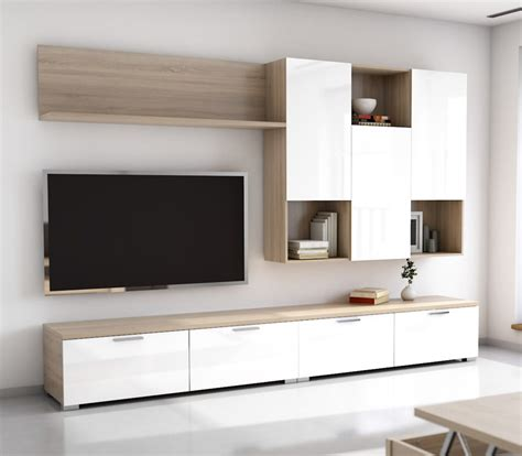 mueble comedor salon de  cms roble aserrado blanco
