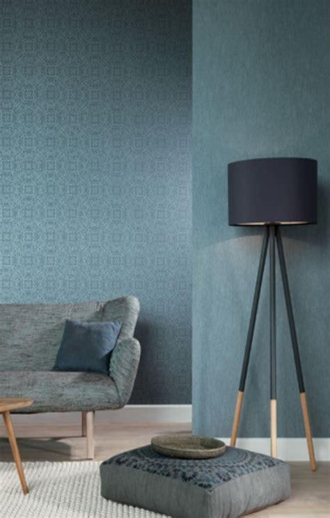 Wohnhaus Modern 5296 by Rasch Textil Indigo 226286 Blau Grau Ornament Muster