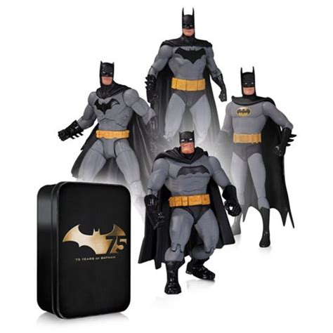 Figure Batman Set 4 batman 75th anniversary set 2 figure 4 pack dc collectibles batman figures
