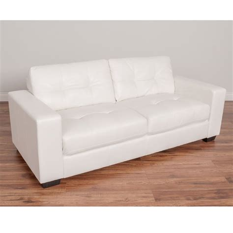 tufted white leather sofa tufted leather sofa in white lzy 111 s