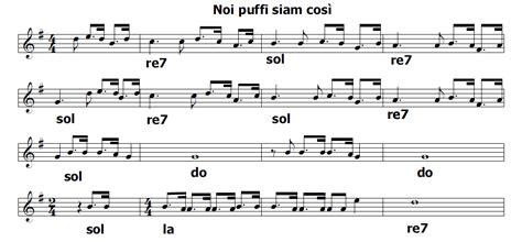i puffi sanno testo musica e spartiti gratis per flauto dolce ottobre 2014