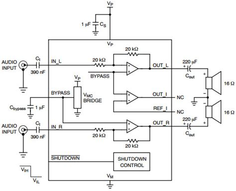 audio lifier output capacitor ncp2809 typical application reference design audio power lifier arrow