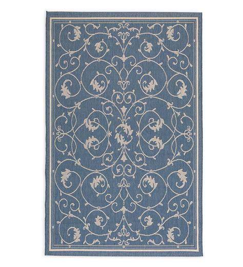 10 13 scroll outdoor rug veranda scroll indoor outdoor rug 7 6 x 10 9 indoor