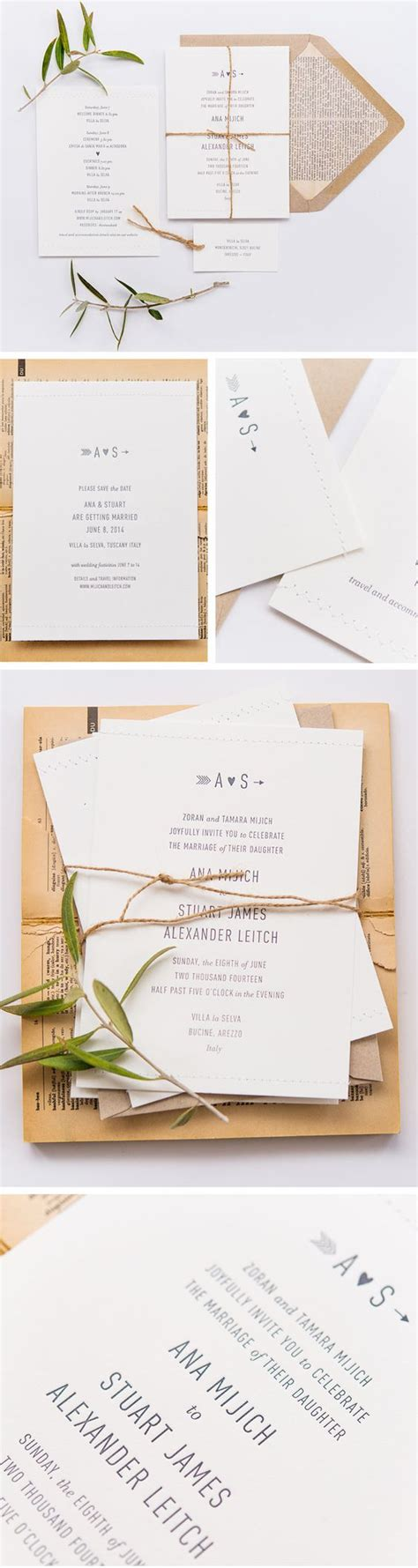 Simple Wedding Stationery simple wedding stationery country style wedding event