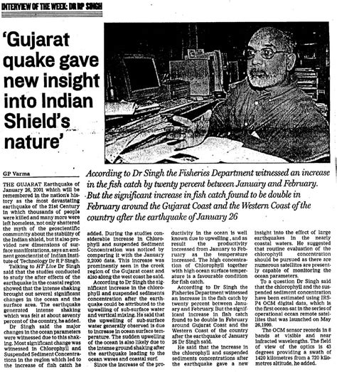 Newspaper Report Writing On Earthquake In Gujarat by News Clippings