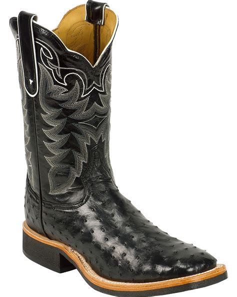 ostrich boots tony lama s quill ostrich cowboy boot square toe