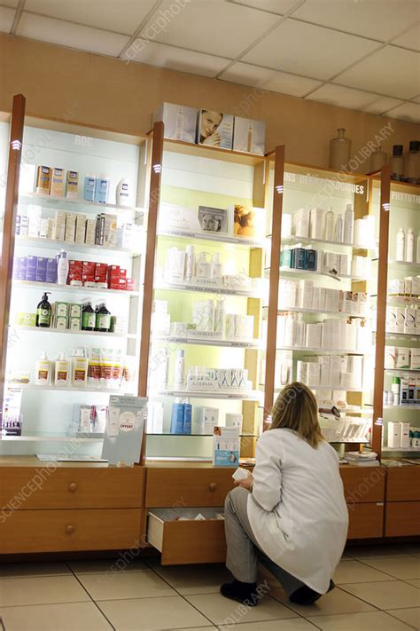 Spl Skincare Madiun skincare products in a pharmacy stock image c010 7366