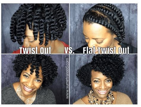 flat twist with weave the twist out vs flat twist out