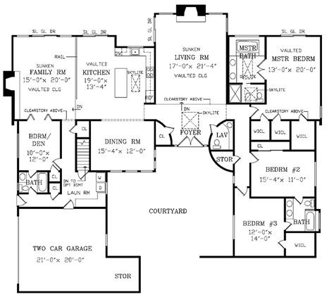 large ranch floor plans large ranch house plans