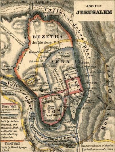 map of ancient jerusalem in jesus time ancient jerusalem map
