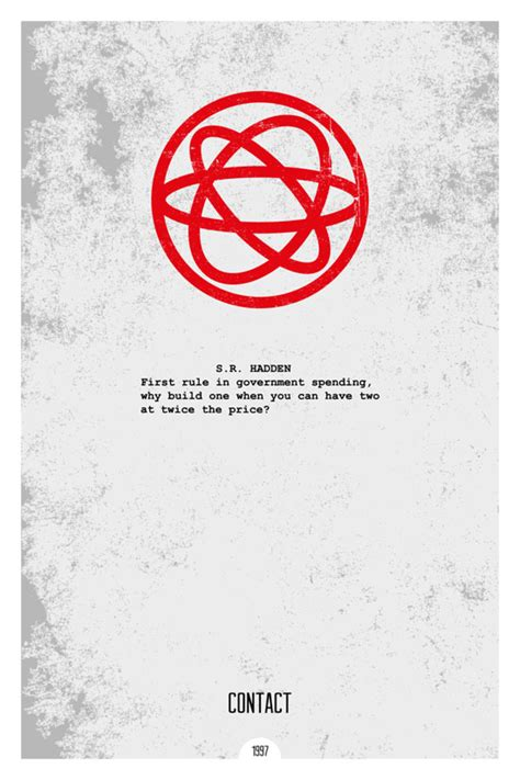 film contact quotes grunge minimalist posters illustrating famous movie quotes