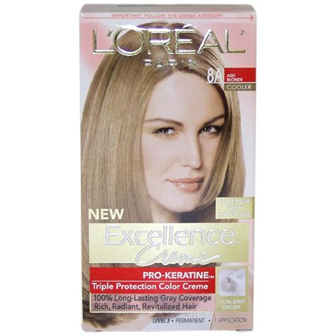 l oreal excellence creme permanent hair color ash 7 1 1 74 oz walmart l oreal excellence creme 8a ash hair color free shipping on orders 45