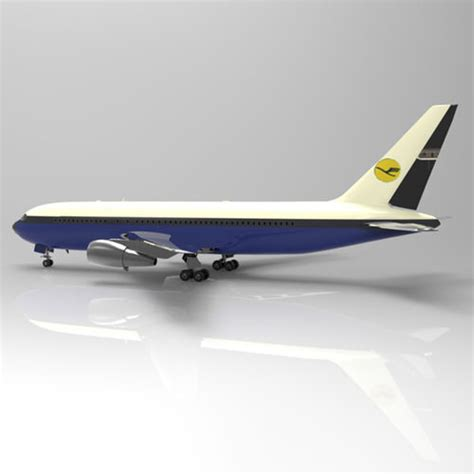 model commercial jets cgtrader com