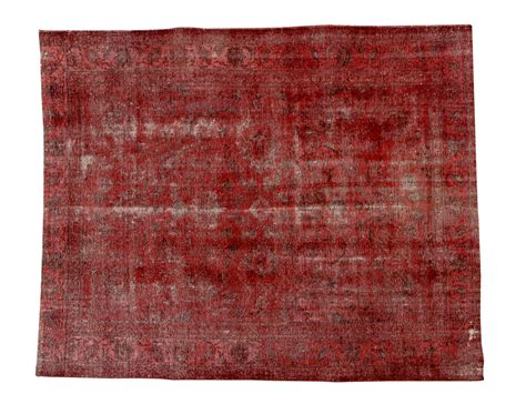 handmade rectangular european area rug in red with grey vintage style handmade rectangular rug decolorized red by