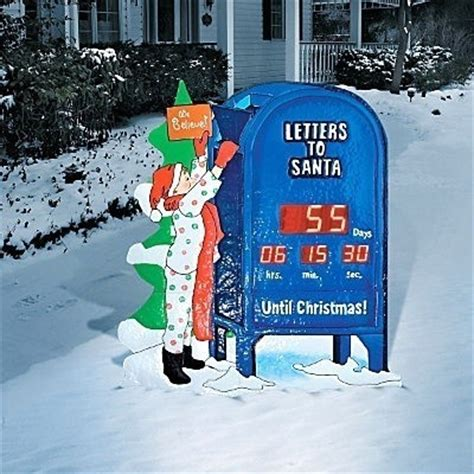 retro lighted outdoor holiday countdown to christmas clock