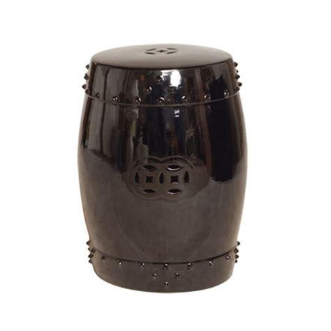 Garden Drum Stool by Emissary 1254bk Drum Garden Stool Black Small