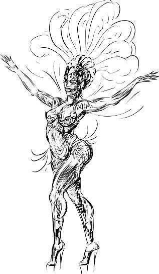 Sketch Of Samba Dancer Stock Illustration - Download Image