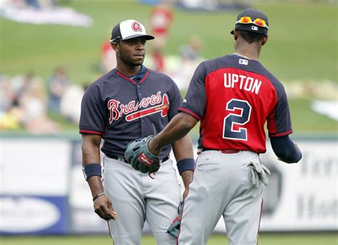 bj upton swing former atlanta braves chipper jones helps b j upton with