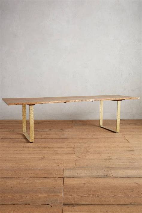 brass leg dining table brown dining table