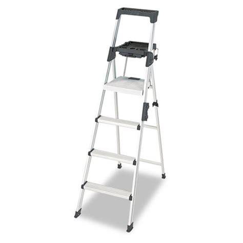 aluminum step stool with handle signature series aluminum folding step ladder w leg lock