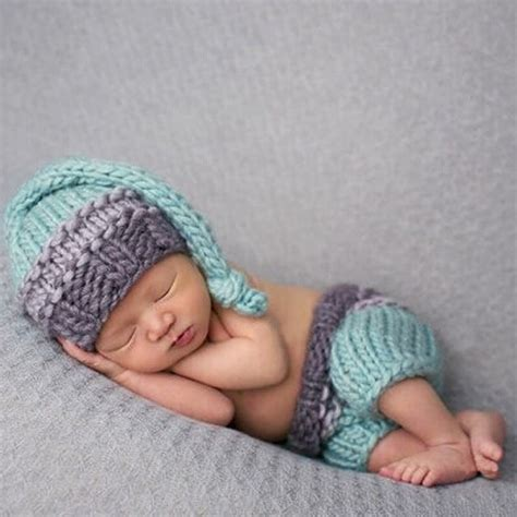knitted baby props baby newborn photography props accessories knit hat