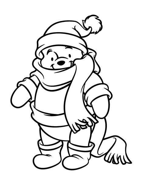 Free Coloring Pages Of Christmas Tigger Winnie The Pooh Coloring Pages