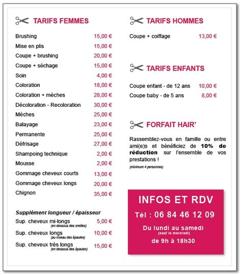 Tarif Coiffeur by Coiffure Mariage Tarif Coiffure Femme A La Mode Abc Coiffure