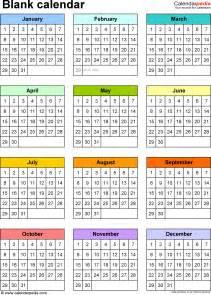 A M Calendar Blank Calendar 9 Free Printable Microsoft Word Templates