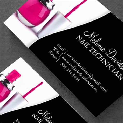 Nail Artist Business Card Template Zazzle Com Straight To Business Pinterest Nails Nail Business Cards Templates