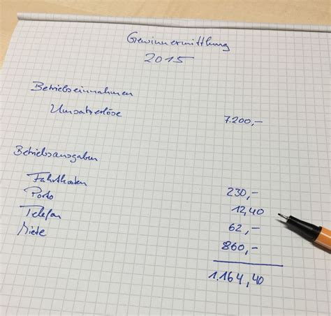 Muster Rechnung Nachhilfe Wo Finde Ich Eine E 220 R Vorlage Zur Formlosen Gewinnermittlung