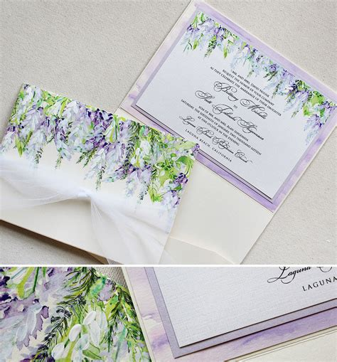 Wedding Invitations Lavender by N Lavender Wisteria Wedding