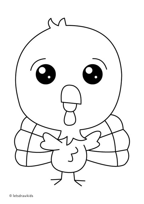 baby turkey coloring page 34 best coloring pages let s draw kids images on