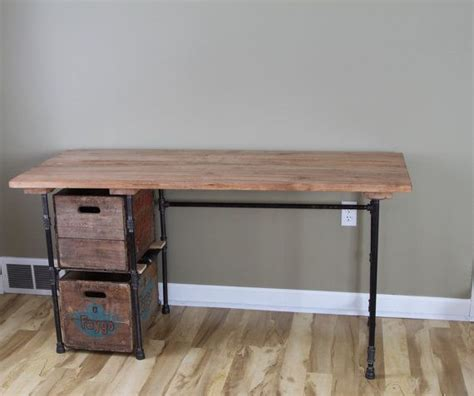 reclaimed wood desk with drawers sturdy statements customizable reclaimed wood desk with
