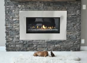 Fireplace With Stone Stone Fireplace Renovation Contemporary Living Room
