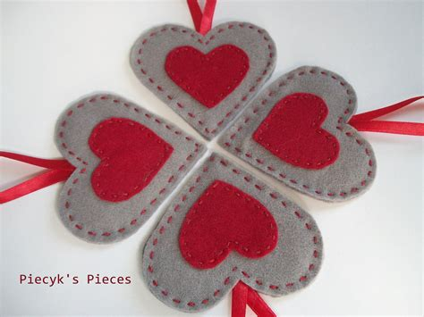 decorative hearts for the home felt hearts felt ornaments home decor by piecykspieces