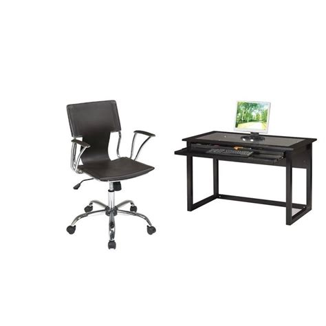 Meridian Computer Desk by Computer Desk And Dorado Vinyl Office Chair Md2542 Dor26
