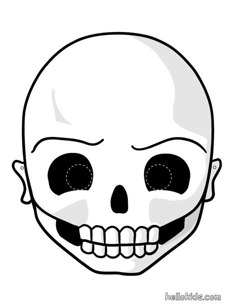 printable scary halloween masks for free printable halloween masks skull mask