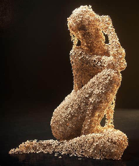 Jean Micheal 03 jean michel bihorel forms flower figures from dried
