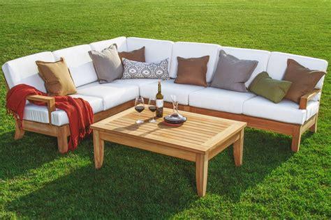 5 pc a grade teak wood outdoor teakwood patio sectional