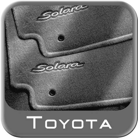 Toyota Solara Floor Mats 2004 2008 toyota solara carpeted floor mats charcoal convertible