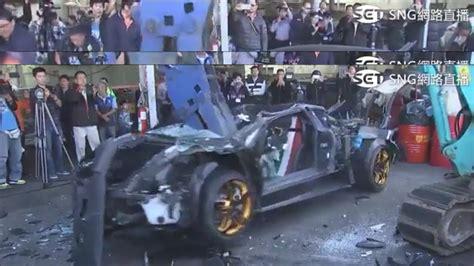 Lamborghini Destroyed Lamborghini Murcielago Destroyed In Taiwan For Illegal